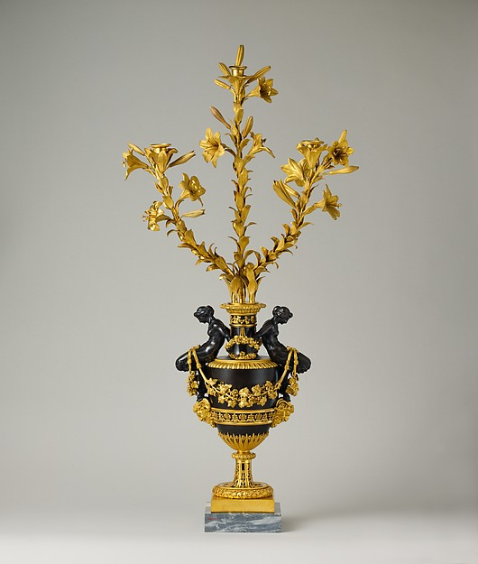 Three-light candelabra (one of a pair)