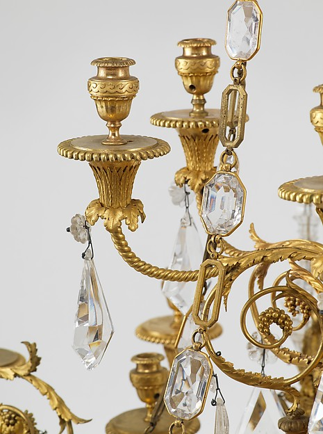 Twenty-four-light chandelier (lustre) (one of a pair)