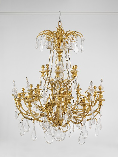 Twenty-four-light chandelier (lustre) (one of a pair)