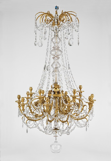 Fifteen-light chandelier