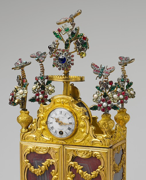 Miniature secretary incorporating a watch