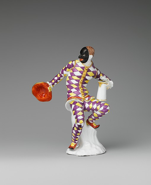 Harlequin with jug