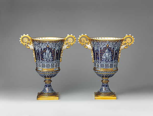 Pair of vases (vases gothique Fragonard)
