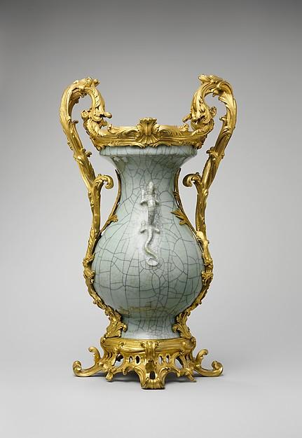 Mounted vase