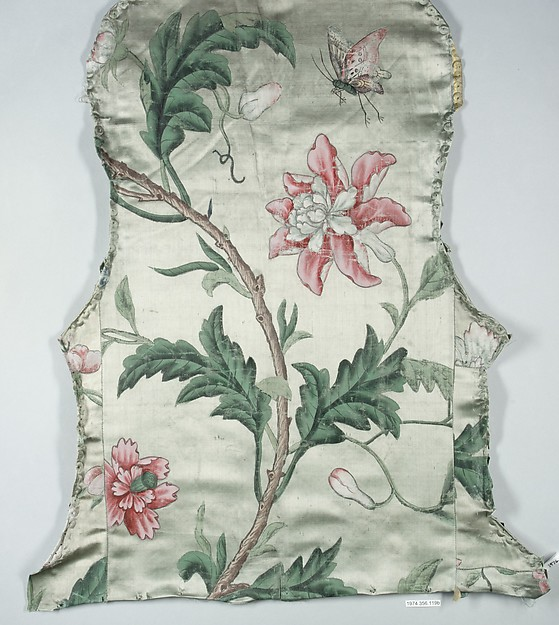 This is What German Wrzburg culture and Upholstery panels for an armchair Looked Like  in 1764