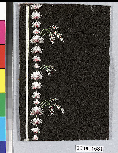 Embroidery sample for a man's suit