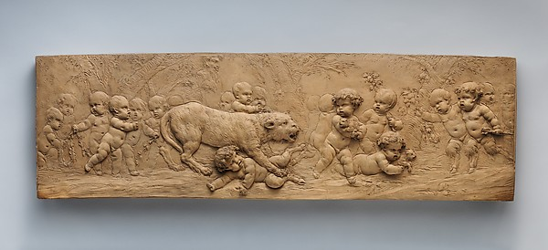 Children and Satyr Children with a Pantheress and Her Cubs