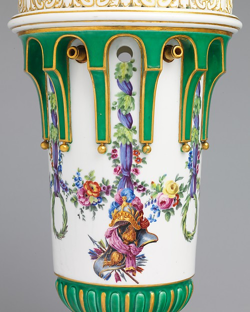 Vase with cover (Vase en tour) (one of a pair)
