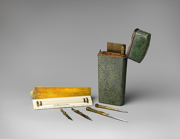 Pocket set of drawing instruments