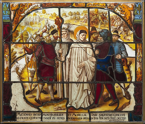 Life of Saint Bernard of Clairvaux: Saint Bernard mediates a dispute between Bishop Stephan von Bar and Duke Matthew von Lothringen in Metz (one of two)