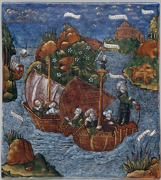The Fleet of Aeneas Arrives in Sight of Italy (Aeneid, Book III)