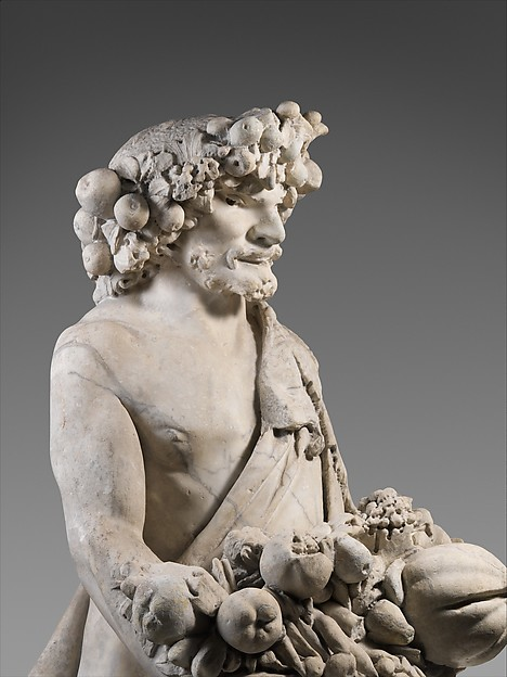 Autumn in the Guise of Priapus (one of a pair)