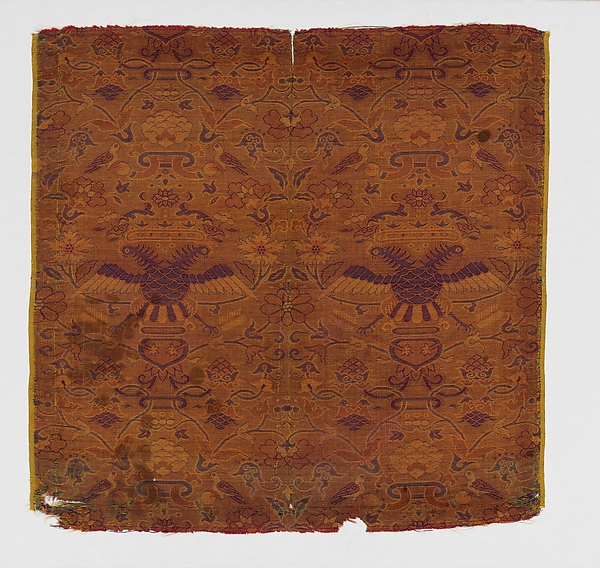 Textile with Crowned Double-Headed Eagles
