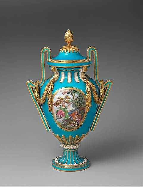 Vase with cover (probably à Bâtons Rompus)
