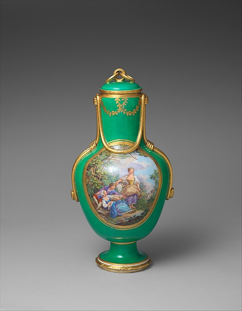 Vase with cover (Vase à flacon) (one of a pair)