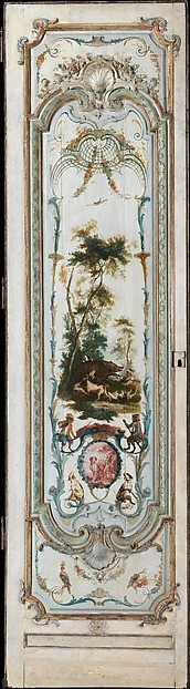 Fascinating Historical Picture of Christophe Het with Door panel in 1751