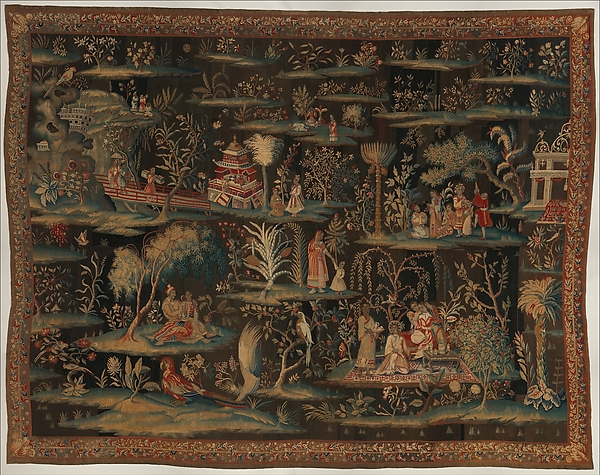 The Toilet of the Princess (from a pair of Indo-Chinese scenes)