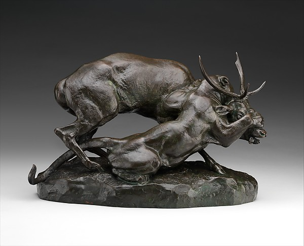 Panther Seizing a Stag