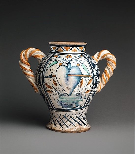 Vase or jar with love motifs