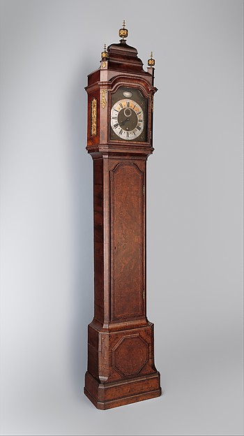 Longcase clock with calendar