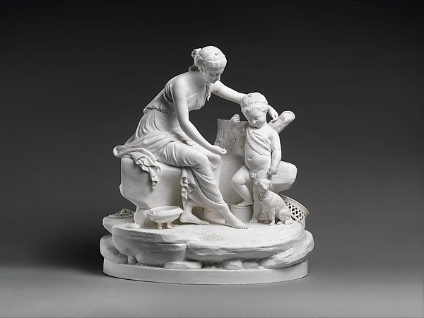 Seated woman and the infant Hercules