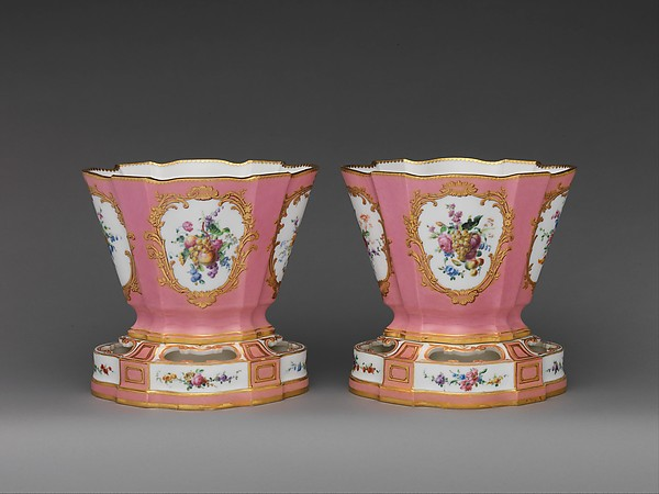Pair of flower vases (vases hollandois)