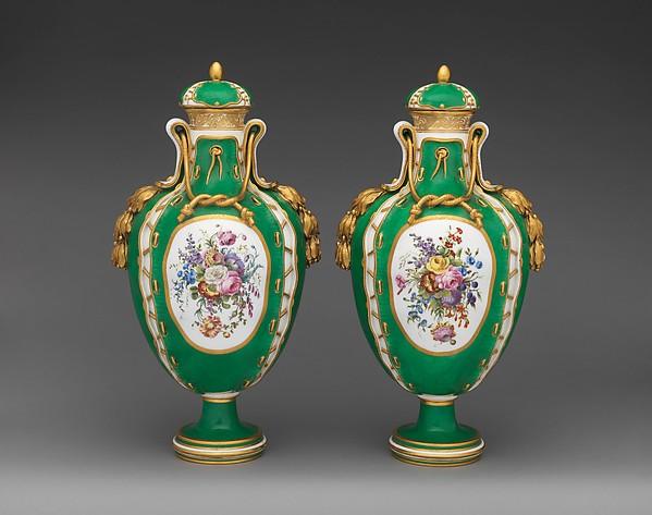 Pair of vases (vases cuir)