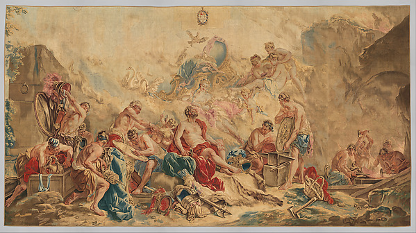 Vulcan Presenting Arms for Aeneas to Venus from the set The Loves of the Gods