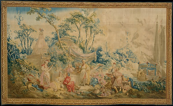 This is What  and The Repast from the set of Russian Entertainments Looked Like  in 1767