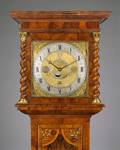 Longcase clock with calendrical, lunar, and tidal indications (The Graves Tompion)