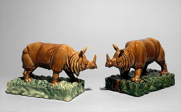 Rhinoceros (one of a pair)