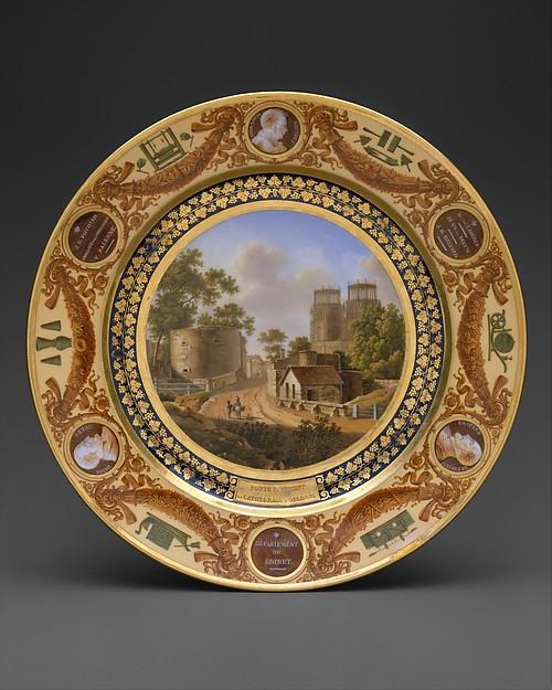 "Plate from the ""Service Des Départements"""