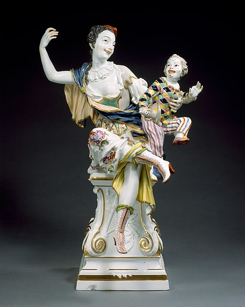 The Muse Thalia and Infant Harlequin