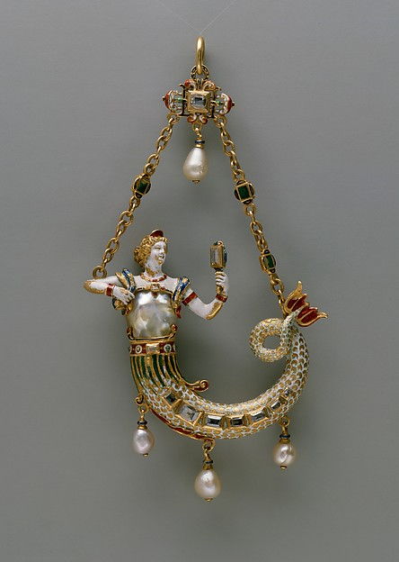 Pendant in the form of a mermaid