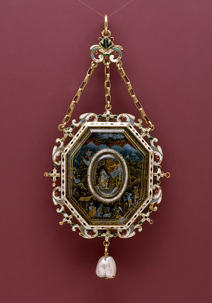 Pendant with Scenes from the Life of Christ and Two Saints