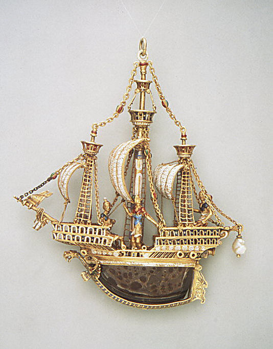 Pendant in the form of a ship