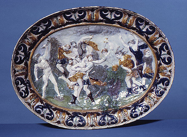 Combat between Lapittes and Centaurs for Hippodamia