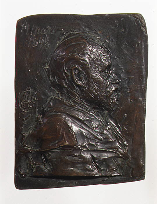 Portrait relief of Emile Zola