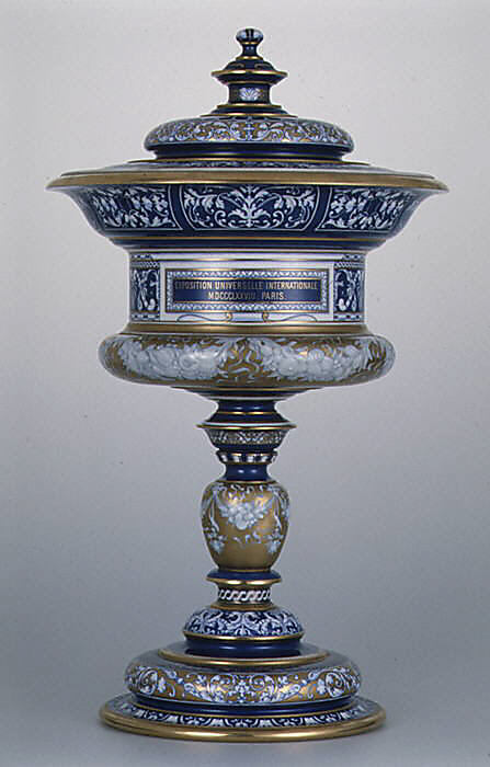 Standing cup with cover (Vase couty or coupe couty)