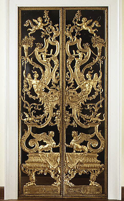 Pair of mirrored double doors