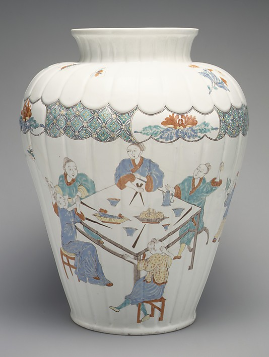 Jar with figures