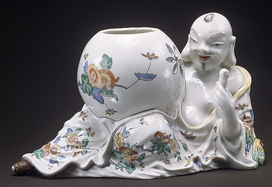 Oriental with potpourri jar