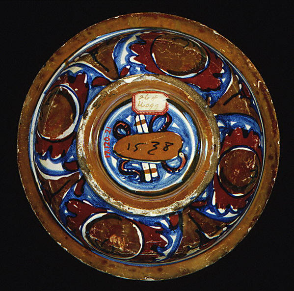 Cover (from a dish or vase)