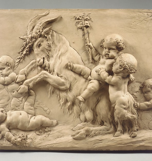 Children and Satyr Children Sporting with a Goat