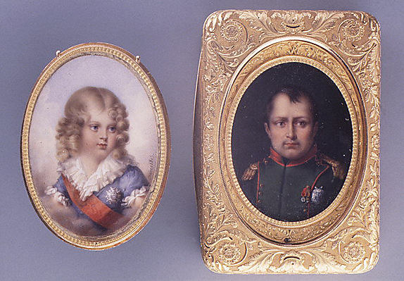 Snuffbox with miniature of the Empress Marie-Louise, the King of Rome, and Napoléon I