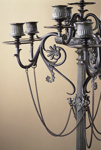 Ten-light Grecian-style candelabrum (one of a pair)
