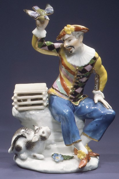 Harlequin with Bird and Cat