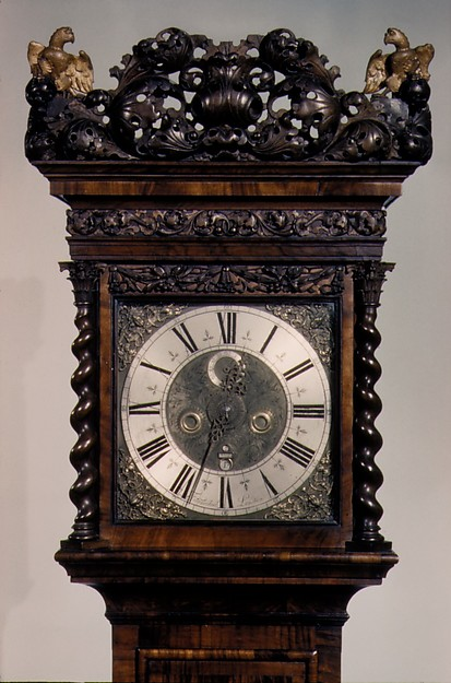 Longcase clock with calendar and alarm