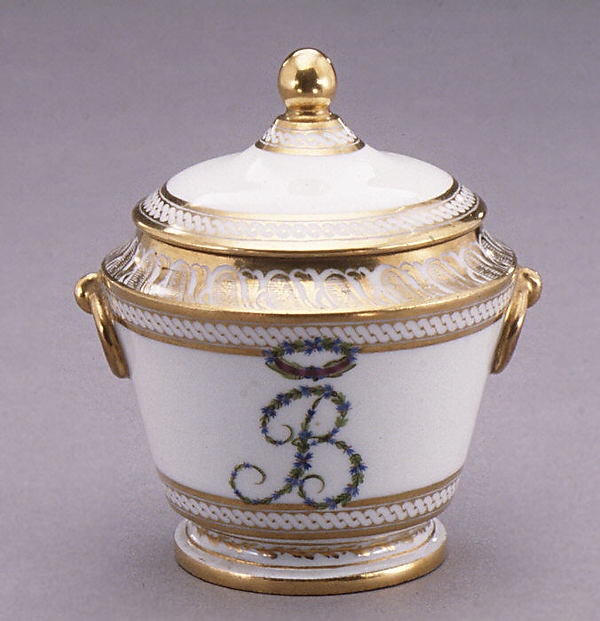 Sugar bowl with cover (part of a traveling tea service)