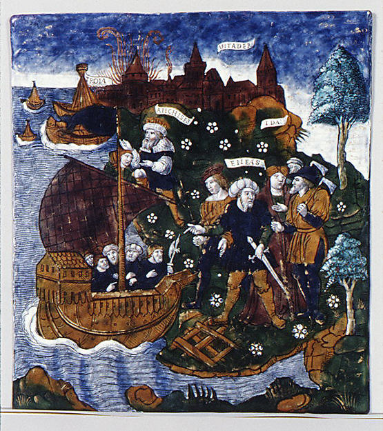 Aeneas Builds a Fleet Near Antandrus, at the Foot of Mount Ida (Aeneid, Book III)